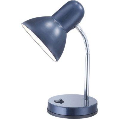 Настольная лампа синяя Globo 2486 BasicОфисные<br>Настольная лампа – это не просто источник дополнительного освещения, но и оригинальный элемент декора. Его можно установить в спальне, гостиной, кабинете и других комнатах. Интернет-магазин «Светодом» предлагает настольные лампы разных стилей по доступным ценам. Благодаря большому ассортименту Вы обязательно найдете в нашем каталоге именно ту модель, которую искали. <br> Настольная лампа Globo 2486 – прекрасный вариант для завершения интерьера. Ее можно включить одновременно с люстрой для более яркого освещения или без нее для создания уютной атмосферы, настраивающей на отдых. <br> Купить настольную лампу Globo 2486 Вы можете с помощью виртуальной «Корзины» или по контактным номерам, указанным на сайте.<br><br>S освещ. до, м2: 4<br>Тип лампы: накал-я - энергосбер-я<br>Тип цоколя: E27<br>Количество ламп: 1<br>Ширина, мм: 145<br>MAX мощность ламп, Вт: 40<br>Диаметр, мм мм: 130<br>Длина, мм: 145<br>Высота, мм: 330<br>Цвет арматуры: серебристый/синий