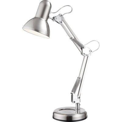 Настольный светильник Globo 24891 FlowОфисные<br>Настольная лампа – это не просто источник дополнительного освещения, но и оригинальный элемент декора. Его можно установить в спальне, гостиной, кабинете и других комнатах. Интернет-магазин «Светодом» предлагает настольные лампы разных стилей по доступным ценам. Благодаря большому ассортименту Вы обязательно найдете в нашем каталоге именно ту модель, которую искали. <br> Настольная лампа Globo 24891 – прекрасный вариант для завершения интерьера. Ее можно включить одновременно с люстрой для более яркого освещения или без нее для создания уютной атмосферы, настраивающей на отдых. <br> Купить настольную лампу Globo 24891 Вы можете с помощью виртуальной «Корзины» или по контактным номерам, указанным на сайте.<br><br>S освещ. до, м2: 2<br>Тип лампы: накал-я - энергосбер-я<br>Тип цоколя: E27<br>Цвет арматуры: серый<br>Количество ламп: 1<br>Диаметр, мм мм: 155<br>Длина, мм: 240<br>Высота, мм: 590<br>MAX мощность ламп, Вт: 40