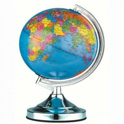 Глобус Globo 2489NДля детской<br><br><br>Тип лампы: Накаливания / энергосбережения / светодиодная<br>Тип цоколя: E14<br>Цвет арматуры: хром серебристый<br>Диаметр, мм мм: 250<br>Высота, мм: 380