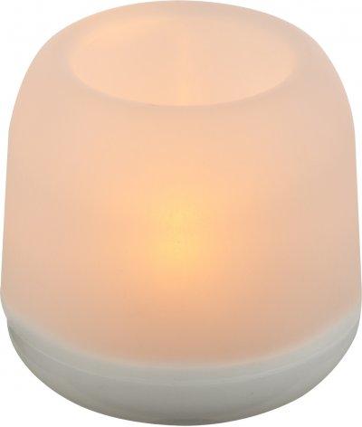 Настольная лампа декоративная Globo 28033-12Декоративные<br><br><br>Тип лампы: LED<br>Тип цоколя: LED<br>Цвет арматуры: белый<br>Диаметр, мм мм: 75<br>Высота, мм: 75