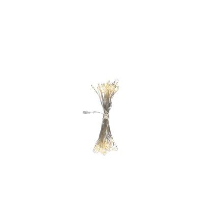 Гирлянда Globo 29950-50Гирлянды новогодние<br><br><br>Тип цоколя: LED<br>Цвет арматуры: белый<br>Количество ламп: 50<br>Длина, мм: 4900<br>MAX мощность ламп, Вт: 0,03