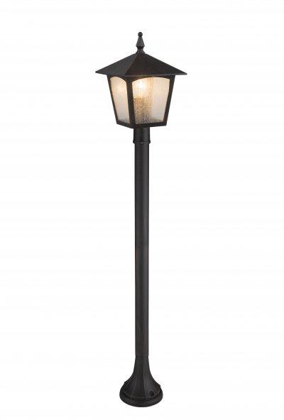 Светильник уличный PIERO 31558 GloboОдиночные столбы<br><br><br>Тип лампы: Накаливания / энергосбережения / светодиодная<br>Тип цоколя: E27<br>Цвет арматуры: цвет ржавчины<br>Количество ламп: 1<br>Ширина, мм: 184<br>Длина, мм: 184<br>Высота, мм: 1000<br>MAX мощность ламп, Вт: 60