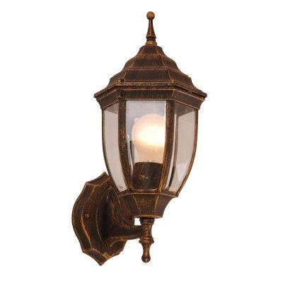 Светильник Globo 31710 Nyx IНастенные<br><br><br>S освещ. до, м2: 3 - 4<br>Тип товара: Светильник уличный<br>Тип лампы: накаливания / энергосбережения / LED-светодиодная<br>Тип цоколя: E27<br>Количество ламп: 1<br>Ширина, мм: 200<br>MAX мощность ламп, Вт: 60<br>Длина, мм: 140<br>Расстояние от стены, мм: 250<br>Высота, мм: 350<br>Цвет арматуры: коричневый