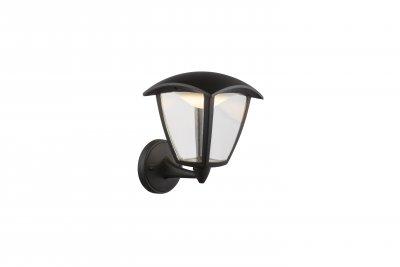 Светильник уличный DELIO 31825 GloboНастенные<br><br><br>Цветовая t, К: 3000<br>Тип лампы: Накаливания / энергосбережения / светодиодная<br>Тип цоколя: LED<br>Цвет арматуры: черный<br>Количество ламп: 1<br>Ширина, мм: 162<br>Глубина, мм: 194<br>Высота, мм: 232<br>MAX мощность ламп, Вт: 7