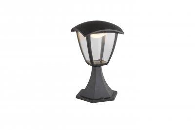 Светильник уличный DELIO 31827 GloboОдиночные столбы<br><br><br>Цветовая t, К: 3000<br>Тип цоколя: LED<br>Цвет арматуры: черный<br>Количество ламп: 1<br>Ширина, мм: 165<br>Длина, мм: 165<br>Высота, мм: 280<br>MAX мощность ламп, Вт: 7