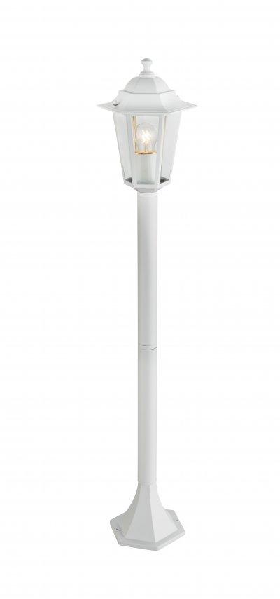 Светильник уличный ADAMO 31873 GloboУличные светильники-столбы<br><br><br>Тип цоколя: E27<br>Цвет арматуры: белый с патиной<br>Количество ламп: 1<br>Ширина, мм: 195<br>Длина, мм: 195<br>Высота, мм: 1000<br>MAX мощность ламп, Вт: 60