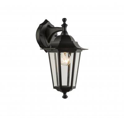 Светильник уличный ADAMO 31881 Globoуличные настенные светильники<br><br><br>Тип лампы: Накаливания / энергосбережения / светодиодная<br>Тип цоколя: E27<br>Цвет арматуры: черный<br>Количество ламп: 1<br>Ширина, мм: 195<br>Глубина, мм: 215<br>Высота, мм: 350<br>MAX мощность ламп, Вт: 60