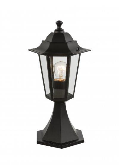 Светильник уличный ADAMO 31882 GloboФонари на столб<br><br><br>Тип лампы: Накаливания / энергосбережения / светодиодная<br>Тип цоколя: E27<br>Цвет арматуры: черный<br>Количество ламп: 1<br>Ширина, мм: 195<br>Длина, мм: 195<br>Высота, мм: 410<br>MAX мощность ламп, Вт: 60