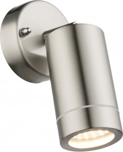 Светильник уличный Globo 32068Ожидается<br><br><br>Тип цоколя: LED<br>Цвет арматуры: матовый никель серебристый<br>Ширина, мм: 85<br>Глубина, мм: 184<br>Высота, мм: 169