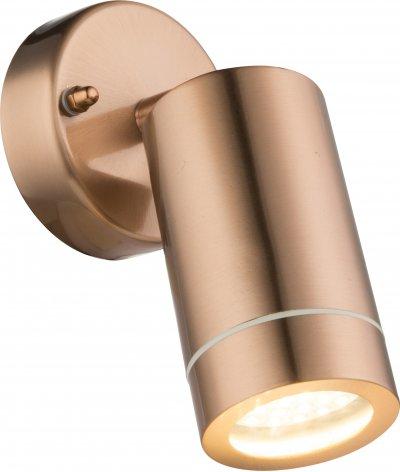 Светильник уличный Globo 32069одиночные споты<br><br><br>S освещ. до, м2: 2<br>Тип цоколя: LED<br>Цвет арматуры: медный<br>Ширина, мм: 85<br>Глубина, мм: 184<br>Высота, мм: 169