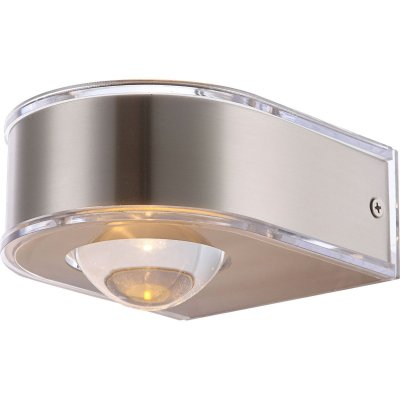 Светильник Globo 34179Настенные<br><br><br>Тип цоколя: LED<br>Цвет арматуры: матовый никель<br>Количество ламп: 1<br>Ширина, мм: 105<br>Длина, мм: 130<br>Высота, мм: 90<br>MAX мощность ламп, Вт: 3,5
