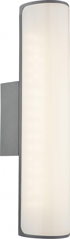 Светильник уличный Globo 34189Ожидается<br><br><br>Тип цоколя: LED<br>Ширина, мм: 300<br>Глубина, мм: 100<br>Высота, мм: 69<br>Цвет арматуры: серый