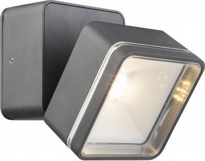 Светильник уличный Globo 34300Настенные<br><br><br>Тип цоколя: LED<br>Ширина, мм: 90<br>Глубина, мм: 141<br>Высота, мм: 90<br>Цвет арматуры: черный