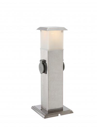 Светильник уличный с розеткой Globo 37003-2Ожидается<br><br><br>Тип цоколя: E14<br>Ширина, мм: 160<br>Высота, мм: 160<br>Цвет арматуры: серый