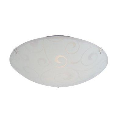 Светильник тарелка Globo 40400-1 BikeКруглые<br>Настенно потолочный светильник Globo (Глобо) 40400-1 подходит как для установки в вертикальном положении - на стены, так и для установки в горизонтальном - на потолок. Для установки настенно потолочных светильников на натяжной потолок необходимо использовать светодиодные лампы LED, которые экономнее ламп Ильича (накаливания) в 10 раз, выделяют мало тепла и не дадут расплавиться Вашему потолку.<br><br>S освещ. до, м2: 4<br>Тип лампы: накаливания / энергосбережения / LED-светодиодная<br>Тип цоколя: E27 ILLU<br>Количество ламп: 1<br>MAX мощность ламп, Вт: 60<br>Диаметр, мм мм: 250<br>Расстояние от стены, мм: 85<br>Высота, мм: 85<br>Оттенок (цвет): белый<br>Цвет арматуры: серебристый
