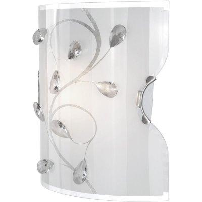 Светильник бра Globo 40404W BurgundyНакладные<br><br><br>S освещ. до, м2: 4<br>Тип лампы: накаливания / энергосбережения / LED-светодиодная<br>Тип цоколя: E27 ILLU<br>Цвет арматуры: серый<br>Количество ламп: 1<br>Ширина, мм: 110<br>Длина, мм: 200<br>Расстояние от стены, мм: 110<br>Высота, мм: 220<br>Оттенок (цвет): белый<br>MAX мощность ламп, Вт: 60