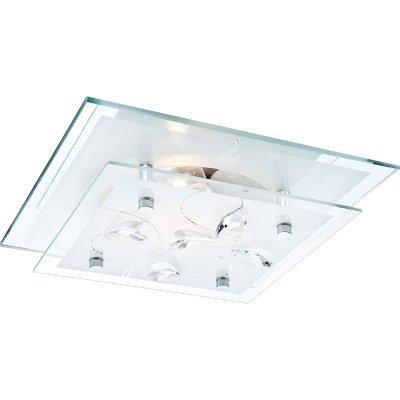 Светильник квадратный Globo 40408 JasminaКвадратные<br>Настенно-потолочные светильники – это универсальные осветительные варианты, которые подходят для вертикального и горизонтального монтажа. В интернет-магазине «Светодом» Вы можете приобрести подобные модели по выгодной стоимости. В нашем каталоге представлены как бюджетные варианты, так и эксклюзивные изделия от производителей, которые уже давно заслужили доверие дизайнеров и простых покупателей.  Настенно-потолочный светильник Globo 40408 станет прекрасным дополнением к основному освещению. Благодаря качественному исполнению и применению современных технологий при производстве эта модель будет радовать Вас своим привлекательным внешним видом долгое время.  Приобрести настенно-потолочный светильник Globo 40408 можно, находясь в любой точке России.<br><br>S освещ. до, м2: 4<br>Тип лампы: накаливания / энергосбережения / LED-светодиодная<br>Тип цоколя: E27 ILLU<br>Цвет арматуры: серебристый<br>Количество ламп: 1<br>Ширина, мм: 240<br>Длина, мм: 240<br>Высота, мм: 85<br>Оттенок (цвет): белый<br>MAX мощность ламп, Вт: 60
