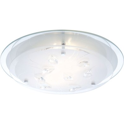 Светильник круглый Globo 40409-2 BrendaКруглые<br>Настенно-потолочные светильники – это универсальные осветительные варианты, которые подходят для вертикального и горизонтального монтажа. В интернет-магазине «Светодом» Вы можете приобрести подобные модели по выгодной стоимости. В нашем каталоге представлены как бюджетные варианты, так и эксклюзивные изделия от производителей, которые уже давно заслужили доверие дизайнеров и простых покупателей.  Настенно-потолочный светильник Globo 40409-2 станет прекрасным дополнением к основному освещению. Благодаря качественному исполнению и применению современных технологий при производстве эта модель будет радовать Вас своим привлекательным внешним видом долгое время.  Приобрести настенно-потолочный светильник Globo 40409-2 можно, находясь в любой точке России.<br><br>S освещ. до, м2: 5<br>Тип лампы: накаливания / энергосбережения / LED-светодиодная<br>Тип цоколя: E27 ILLU<br>Количество ламп: 2<br>Ширина, мм: 335<br>MAX мощность ламп, Вт: 40<br>Диаметр, мм мм: 335<br>Длина, мм: 335<br>Расстояние от стены, мм: 85<br>Высота, мм: 85<br>Оттенок (цвет): белый<br>Цвет арматуры: серебристый