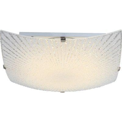 Светильник Globo 40448прямоугольные светильники<br><br><br>S освещ. до, м2: 4<br>Тип лампы: LED<br>Тип цоколя: LED<br>Цвет арматуры: матовый никель<br>Количество ламп: 1<br>Диаметр, мм мм: 250<br>Высота, мм: 80<br>MAX мощность ламп, Вт: 8
