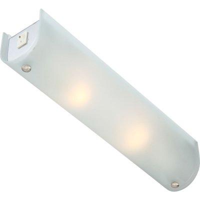 Светильник настенно-потолочный Globo 4101 LineДлинные<br>Настенно потолочный светильник Globo (Глобо) 4101 подходит как для установки в вертикальном положении - на стены, так и для установки в горизонтальном - на потолок. Для установки настенно потолочных светильников на натяжной потолок необходимо использовать светодиодные лампы LED, которые экономнее ламп Ильича (накаливания) в 10 раз, выделяют мало тепла и не дадут расплавиться Вашему потолку.<br><br>S освещ. до, м2: 5<br>Тип лампы: накаливания / энергосбережения / LED-светодиодная<br>Тип цоколя: E14<br>Количество ламп: 2<br>Ширина, мм: 70<br>MAX мощность ламп, Вт: 40<br>Длина, мм: 350<br>Высота, мм: 75<br>Цвет арматуры: серебристый