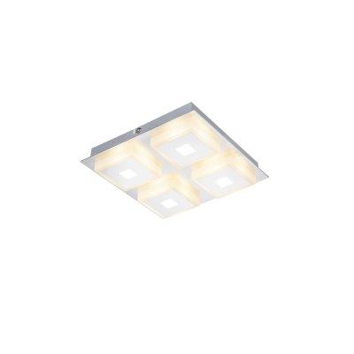 Светильник потолочный Globo 41111-4 QUADRALLAКвадратные<br><br><br>Тип товара: Светильник потолочный<br>Скидка, %: 21<br>Тип цоколя: LED<br>Количество ламп: 4<br>Ширина, мм: 200<br>MAX мощность ламп, Вт: 5<br>Длина, мм: 200<br>Высота, мм: 400<br>Цвет арматуры: серебристый