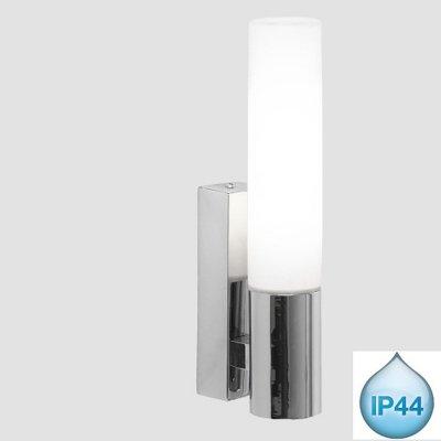 Светильник бра Globo 41521 MarinesМодерн<br><br><br>S освещ. до, м2: 2<br>Тип товара: Светильник для ванной комнаты<br>Скидка, %: 64<br>Тип лампы: галогенная / LED-светодиодная<br>Тип цоколя: G9<br>Количество ламп: 1<br>Ширина, мм: 60<br>MAX мощность ламп, Вт: 33<br>Диаметр, мм мм: 40<br>Высота, мм: 220<br>Цвет арматуры: серебристый