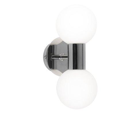 Светильник бра Globo 41522-2 SkylonМодерн<br><br><br>S освещ. до, м2: 5<br>Тип лампы: галогенная / LED-светодиодная<br>Тип цоколя: G9<br>Количество ламп: 2<br>MAX мощность ламп, Вт: 33<br>Диаметр, мм мм: 80<br>Расстояние от стены, мм: 115<br>Высота, мм: 115<br>Цвет арматуры: серебристый