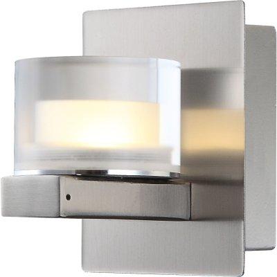 Светильник настенный бра Globo 41547-1Хай-тек<br><br><br>Тип лампы: LED<br>Тип цоколя: LED<br>Количество ламп: 1<br>Ширина, мм: 80<br>MAX мощность ламп, Вт: 5<br>Высота, мм: 100<br>Цвет арматуры: матовый никель