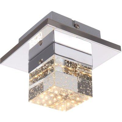 Светильник Globo 42505-1декоративные светильники<br>Настенно-потолочные светильники – это универсальные осветительные варианты, которые подходят для вертикального и горизонтального монтажа. В интернет-магазине «Светодом» Вы можете приобрести подобные модели по выгодной стоимости. В нашем каталоге представлены как бюджетные варианты, так и эксклюзивные изделия от производителей, которые уже давно заслужили доверие дизайнеров и простых покупателей.  Настенно-потолочный светильник Globo 42505-1 станет прекрасным дополнением к основному освещению. Благодаря качественному исполнению и применению современных технологий при производстве эта модель будет радовать Вас своим привлекательным внешним видом долгое время. Приобрести настенно-потолочный светильник Globo 42505-1 можно, находясь в любой точке России.<br><br>S освещ. до, м2: 2<br>Тип цоколя: LED<br>Цвет арматуры: серебристый хром<br>Количество ламп: 1<br>Диаметр, мм мм: 130<br>Высота, мм: 110<br>MAX мощность ламп, Вт: 5