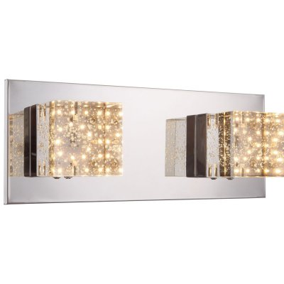 Светильник Globo 42505-2Модерн<br><br><br>Тип товара: Светильник настенно-потолочный<br>Скидка, %: 21<br>Тип цоколя: LED<br>Количество ламп: 2<br>Ширина, мм: 130<br>MAX мощность ламп, Вт: 5<br>Длина, мм: 310<br>Высота, мм: 110<br>Цвет арматуры: хром