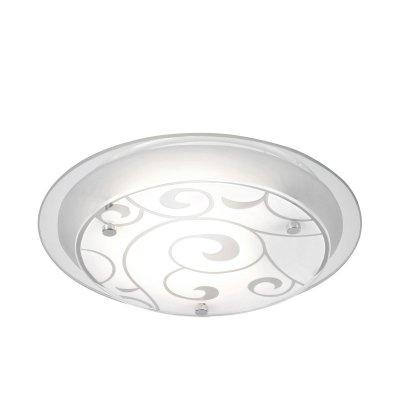 Светильник Globo 48060 KristjanaКруглые<br>Настенно потолочный светильник Globo (Глобо) 48060 подходит как для установки в вертикальном положении - на стены, так и для установки в горизонтальном - на потолок. Для установки настенно потолочных светильников на натяжной потолок необходимо использовать светодиодные лампы LED, которые экономнее ламп Ильича (накаливания) в 10 раз, выделяют мало тепла и не дадут расплавиться Вашему потолку.<br><br>S освещ. до, м2: 4<br>Тип лампы: накаливания / энергосбережения / LED-светодиодная<br>Тип цоколя: E27 ILLU<br>Цвет арматуры: серебристый<br>Количество ламп: 1<br>Диаметр, мм мм: 250<br>Высота, мм: 85<br>MAX мощность ламп, Вт: 60