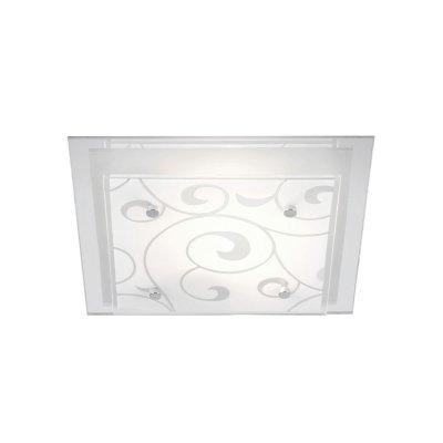 Светильник Globo 48062 DiaКвадратные<br>Настенно потолочный светильник Globo (Глобо) 48062 подходит как для установки в вертикальном положении - на стены, так и для установки в горизонтальном - на потолок. Для установки настенно потолочных светильников на натяжной потолок необходимо использовать светодиодные лампы LED, которые экономнее ламп Ильича (накаливания) в 10 раз, выделяют мало тепла и не дадут расплавиться Вашему потолку.<br><br>S освещ. до, м2: 4<br>Тип лампы: накаливания / энергосбережения / LED-светодиодная<br>Тип цоколя: E27 ILLU<br>Количество ламп: 1<br>Ширина, мм: 240<br>MAX мощность ламп, Вт: 60<br>Длина, мм: 240<br>Высота, мм: 85<br>Цвет арматуры: серебристый