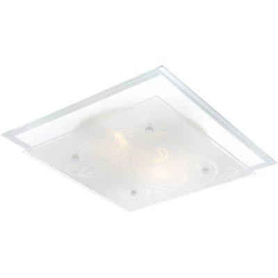 Светильник Globo 48066 BerryКвадратные<br>Настенно потолочный светильник Globo (Глобо) 48066 подходит как для установки в вертикальном положении - на стены, так и для установки в горизонтальном - на потолок. Для установки настенно потолочных светильников на натяжной потолок необходимо использовать светодиодные лампы LED, которые экономнее ламп Ильича (накаливания) в 10 раз, выделяют мало тепла и не дадут расплавиться Вашему потолку.<br><br>S освещ. до, м2: 8<br>Тип товара: Светильник настенно-потолочный<br>Тип лампы: накаливания / энергосбережения / LED-светодиодная<br>Тип цоколя: E27 ILLU<br>Количество ламп: 2<br>Ширина, мм: 335<br>MAX мощность ламп, Вт: 60<br>Диаметр, мм мм: 335/335<br>Длина, мм: 335<br>Высота, мм: 85<br>Цвет арматуры: серебристый