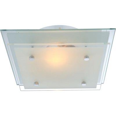 Светильник потолочный Globo 48168 IndiКвадратные<br>Настенно потолочный светильник Globo (Глобо) 48168 подходит как для установки в вертикальном положении - на стены, так и для установки в горизонтальном - на потолок. Для установки настенно потолочных светильников на натяжной потолок необходимо использовать светодиодные лампы LED, которые экономнее ламп Ильича (накаливания) в 10 раз, выделяют мало тепла и не дадут расплавиться Вашему потолку.<br><br>S освещ. до, м2: 4<br>Тип лампы: накаливания / энергосбережения / LED-светодиодная<br>Тип цоколя: E27<br>Цвет арматуры: серебристый<br>Количество ламп: 1<br>Ширина, мм: 220<br>Длина, мм: 220<br>Высота, мм: 75<br>MAX мощность ламп, Вт: 60