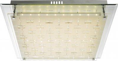 Светильник потолочный Globo 48212-20Ожидается<br><br><br>Тип цоколя: LED<br>Цвет арматуры: хром серебристый<br>Ширина, мм: 430<br>Высота, мм: 430