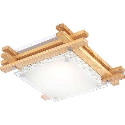 Светильник Globo 48323 EdisonКвадратные<br>Настенно потолочный светильник Globo (Глобо) 48323 подходит как для установки в вертикальном положении - на стены, так и для установки в горизонтальном - на потолок. Для установки настенно потолочных светильников на натяжной потолок необходимо использовать светодиодные лампы LED, которые экономнее ламп Ильича (накаливания) в 10 раз, выделяют мало тепла и не дадут расплавиться Вашему потолку.<br><br>S освещ. до, м2: 4<br>Тип лампы: накаливания / энергосбережения / LED-светодиодная<br>Тип цоколя: E27 ILLU<br>Количество ламп: 1<br>Ширина, мм: 270<br>MAX мощность ламп, Вт: 60<br>Длина, мм: 270<br>Высота, мм: 85<br>Цвет арматуры: деревянный
