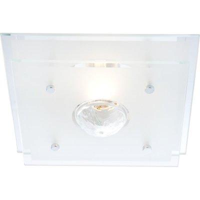 Светильник квадратный Globo 48328 MalagaКвадратные<br>Настенно потолочный светильник Globo (Глобо) 48328 подходит как для установки в вертикальном положении - на стены, так и для установки в горизонтальном - на потолок. Для установки настенно потолочных светильников на натяжной потолок необходимо использовать светодиодные лампы LED, которые экономнее ламп Ильича (накаливания) в 10 раз, выделяют мало тепла и не дадут расплавиться Вашему потолку.<br><br>S освещ. до, м2: 4<br>Тип лампы: накаливания / энергосбережения / LED-светодиодная<br>Тип цоколя: E27 ILLU<br>Цвет арматуры: серебристый<br>Количество ламп: 1<br>Ширина, мм: 220<br>Длина, мм: 220<br>Высота, мм: 100<br>MAX мощность ламп, Вт: 60