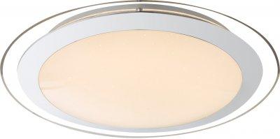 Потолочный настенно-светильник Globo 48365 NIKOLEОжидается<br><br><br>Цветовая t, К: 3000-6000<br>Тип цоколя: LED RGB<br>Цвет арматуры: хром серебристый, белый<br>Диаметр, мм мм: 405<br>Высота, мм: 90