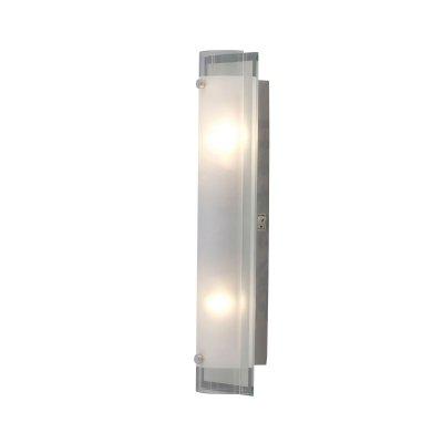 Светильник Globo 48510-2 SpecchioДлинные<br>Настенно потолочный светильник Globo (Глобо) 48510-2 подходит как для установки в вертикальном положении - на стены, так и для установки в горизонтальном - на потолок. Для установки настенно потолочных светильников на натяжной потолок необходимо использовать светодиодные лампы LED, которые экономнее ламп Ильича (накаливания) в 10 раз, выделяют мало тепла и не дадут расплавиться Вашему потолку.<br><br>S освещ. до, м2: 5<br>Тип лампы: накаливания / энергосбережения / LED-светодиодная<br>Тип цоколя: E14<br>Цвет арматуры: серебристый<br>Количество ламп: 2<br>Ширина, мм: 85<br>Длина, мм: 400<br>Расстояние от стены, мм: 85<br>Высота, мм: 120<br>MAX мощность ламп, Вт: 40