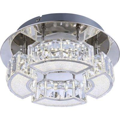 Люстра светодиодная Globo 49220-12современные потолочные люстры модерн<br>Компания «Светодом» предлагает широкий ассортимент люстр от известных производителей. Представленные в нашем каталоге товары выполнены из современных материалов и обладают отличным качеством. Благодаря широкому ассортименту Вы сможете найти у нас люстру под любой интерьер. Мы предлагаем как классические варианты, так и современные модели, отличающиеся лаконичностью и простотой форм. <br>Стильная люстра Globo 49220-12 станет украшением любого дома. Эта модель от известного производителя не оставит равнодушным ценителей красивых и оригинальных предметов интерьера. Люстра Globo 49220-12 обеспечит равномерное распределение света по всей комнате. При выборе обратите внимание на характеристики, позволяющие приобрести наиболее подходящую модель. <br>Купить понравившуюся люстру по доступной цене Вы можете в интернет-магазине «Светодом».<br><br>Установка на натяжной потолок: Да<br>S освещ. до, м2: 5<br>Крепление: Планка<br>Тип цоколя: LED<br>Цвет арматуры: серебристый<br>Количество ламп: 1<br>Диаметр, мм мм: 250<br>Высота, мм: 100<br>MAX мощность ламп, Вт: 12