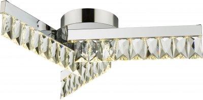 Светильник потолочный Globo 49234-18хрустальные потолочные люстры<br><br><br>Установка на натяжной потолок: Да<br>S освещ. до, м2: 7<br>Тип цоколя: LED<br>Цвет арматуры: хром серебристый<br>Диаметр, мм мм: 535<br>Высота, мм: 115