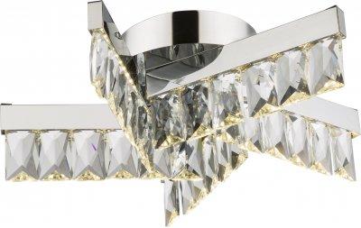 Светильник потолочный Globo 49234-20Потолочные<br><br><br>Установка на натяжной потолок: Ограничено<br>S освещ. до, м2: 8<br>Тип лампы: LED<br>Тип цоколя: LED<br>Диаметр, мм мм: 350<br>Высота, мм: 110<br>Цвет арматуры: хром серебристый