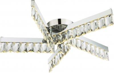 Светильник потолочный Globo 49234-30Ожидается<br><br><br>Тип цоколя: LED<br>Цвет арматуры: хром серебристый<br>Диаметр, мм мм: 535<br>Высота, мм: 115