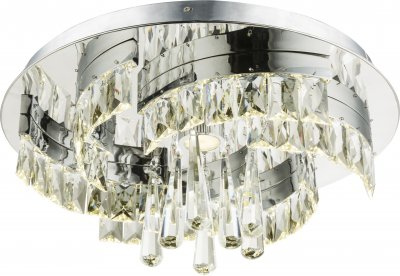 Светильник потолочный Globo 49234-35Ожидается<br><br><br>Тип цоколя: LED<br>Цвет арматуры: хром серебристый<br>Диаметр, мм мм: 450<br>Высота, мм: 170