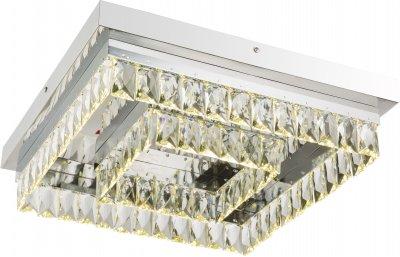 Светильник потолочный Globo 49234-40Ожидается<br><br><br>Тип цоколя: LED<br>Цвет арматуры: хром серебристый<br>Ширина, мм: 420<br>Высота, мм: 420