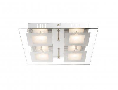 Светильник потолочный Globo 49239-4 LIGHTОжидается<br><br><br>Цветовая t, К: 3000<br>Тип цоколя: LED<br>Цвет арматуры: серебристый хром<br>Количество ламп: 4<br>Ширина, мм: 300<br>Длина, мм: 300<br>Высота, мм: 53<br>MAX мощность ламп, Вт: 20
