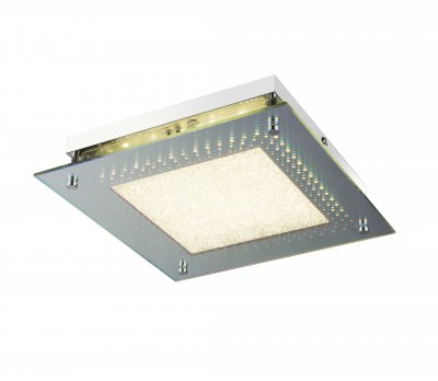 Светильник потолочный Globo 49245 CINEMAОжидается<br><br><br>Цветовая t, К: 4000<br>Тип цоколя: LED<br>Цвет арматуры: серебристый хром, 3D эффект<br>Количество ламп: 1<br>Ширина, мм: 280<br>Длина, мм: 280<br>Высота, мм: 60<br>MAX мощность ламп, Вт: 16