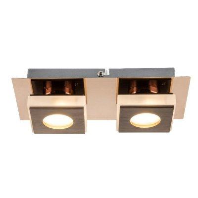 Светильник настенно-потолочный Globo 49403-2прямоугольные светильники<br>Настенно-потолочные светильники – это универсальные осветительные варианты, которые подходят для вертикального и горизонтального монтажа. В интернет-магазине «Светодом» Вы можете приобрести подобные модели по выгодной стоимости. В нашем каталоге представлены как бюджетные варианты, так и эксклюзивные изделия от производителей, которые уже давно заслужили доверие дизайнеров и простых покупателей.  Настенно-потолочный светильник Globo 49403-2 станет прекрасным дополнением к основному освещению. Благодаря качественному исполнению и применению современных технологий при производстве эта модель будет радовать Вас своим привлекательным внешним видом долгое время. Приобрести настенно-потолочный светильник Globo 49403-2 можно, находясь в любой точке России.<br><br>S освещ. до, м2: 4<br>Тип цоколя: LED<br>Цвет арматуры: бронзовый<br>Количество ламп: 2<br>MAX мощность ламп, Вт: 5