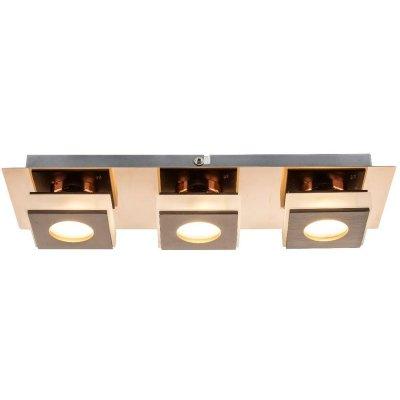 Светильник настенно-потолочный Globo 49403-3Длинные<br>Настенно-потолочные светильники – это универсальные осветительные варианты, которые подходят для вертикального и горизонтального монтажа. В интернет-магазине «Светодом» Вы можете приобрести подобные модели по выгодной стоимости. В нашем каталоге представлены как бюджетные варианты, так и эксклюзивные изделия от производителей, которые уже давно заслужили доверие дизайнеров и простых покупателей.  Настенно-потолочный светильник Globo 49403-3 станет прекрасным дополнением к основному освещению. Благодаря качественному исполнению и применению современных технологий при производстве эта модель будет радовать Вас своим привлекательным внешним видом долгое время. Приобрести настенно-потолочный светильник Globo 49403-3 можно, находясь в любой точке России.<br><br>S освещ. до, м2: 6<br>Тип цоколя: LED<br>Цвет арматуры: бронзовый<br>Количество ламп: 3<br>MAX мощность ламп, Вт: 5