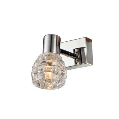 Светильник поворотный спот Globo 541007-1Одиночные<br><br><br>Тип товара: Светильник поворотный спот<br>Тип цоколя: E14<br>Количество ламп: 1<br>MAX мощность ламп, Вт: 40<br>Цвет арматуры: серебристый